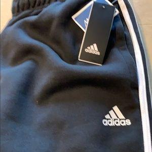 Adidas athletic jogger sweat pants size XL black